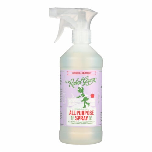 Rebel Green - All-Purpose Spray - Lavender and Grapefruit - Case of 4 - 16 fl oz. Perspective: front