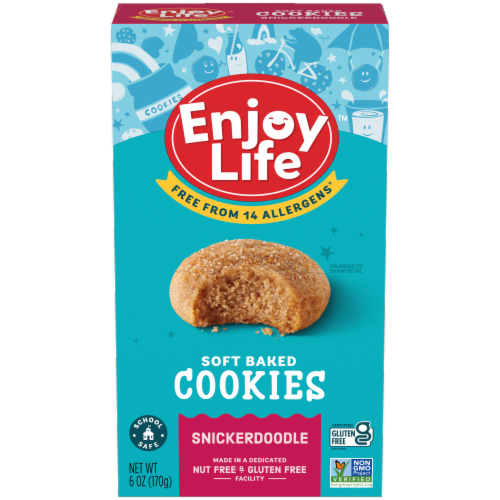 Enjoy Life - Cookie - Soft Baked - Snickerdoodle - Gluten Free - 6 oz - case of 6 Perspective: front