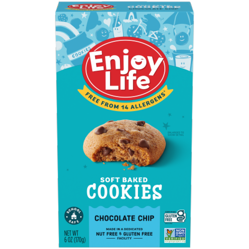 Enjoy Life - Cookie - Soft Baked - Chocolate Chip - Gluten Free - 6 oz - case of 6 Perspective: front