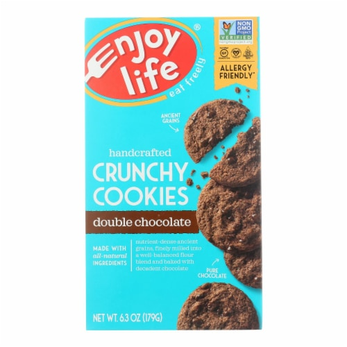 Enjoy Life - Cookie - Crunchy - Double Chocolate - Gluten Free - 6.3 oz - case of 6 Perspective: front