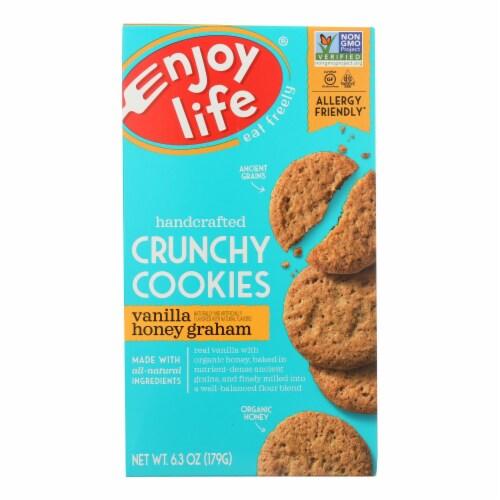 Enjoy Life - Cookie - Crunchy - Vanilla Honey Graham - Gluten Free - 6.3 oz - case of 6 Perspective: front