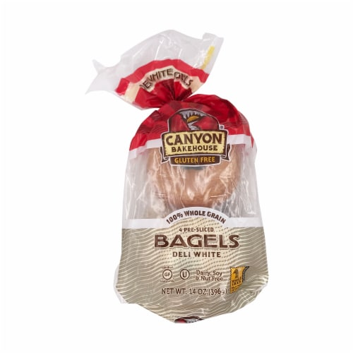 Cayon Bakehouse Gluten Free Bagels Deli White,14oz(Pack of 6) Perspective: front
