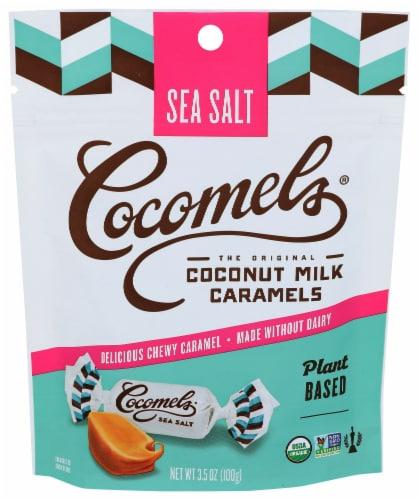 Cocomel - Organic Coconut Milk Caramels - Sea Salt - Case of 6 - 3.5 oz. Perspective: front