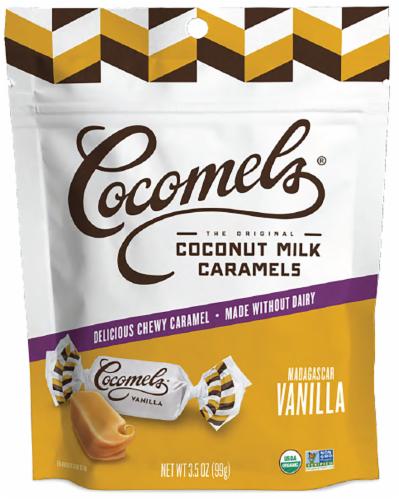 Cocomel - Organic Coconut Milk Caramels - Vanilla Perspective: front