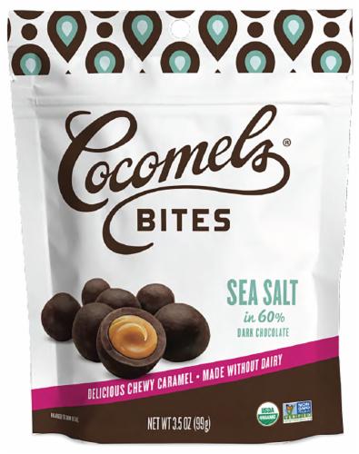 Cocomel - Carmel Bite - Organic - Sea Salt Perspective: front