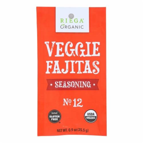 Riega Foods Seasoning - Organic - Veggie Fajitas - No. 12 - .9 oz - case of 8 Perspective: front