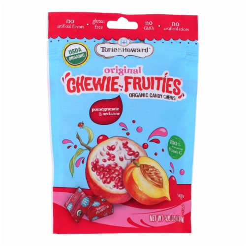 Torie and Howard Chewie Fruities - Pomegranate and Nectarine - Case of 6 - 4 oz. Perspective: front