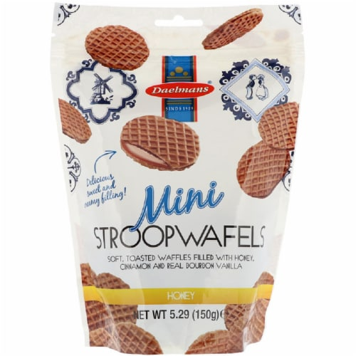 Daelman's Stroopwafel Mini Honey Wafer, 7.04 OZ (Pack of 12) Perspective: front