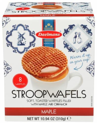 Daelmans StroopWafels Maple Jumbo Box 10.94 OZ  (Pack of 8) Perspective: front