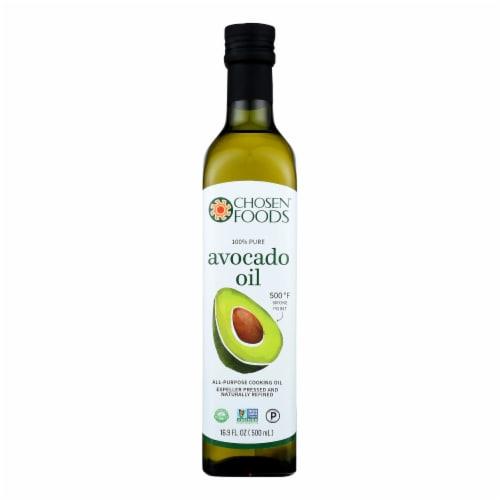 Chosen Foods Avocado Oil - Case of 6 - 16.9 Fl oz. Perspective: front