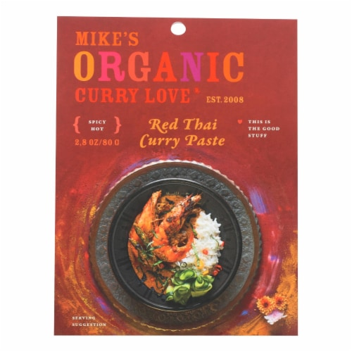 Mike's Organic Curry Love - Organic Curry Paste - Red Thai - Case of 6 - 2.8 oz. Perspective: front