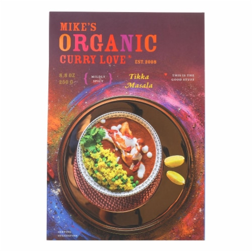 Mike's Organic Curry Love - Curry Tikka Masala Sc - Case of 6 - 8.8 FZ Perspective: front