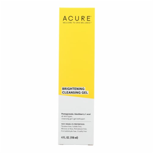 Acure - Facial Cleansing Gel - Superfruit and Chlorella - 4 FL oz. Perspective: front