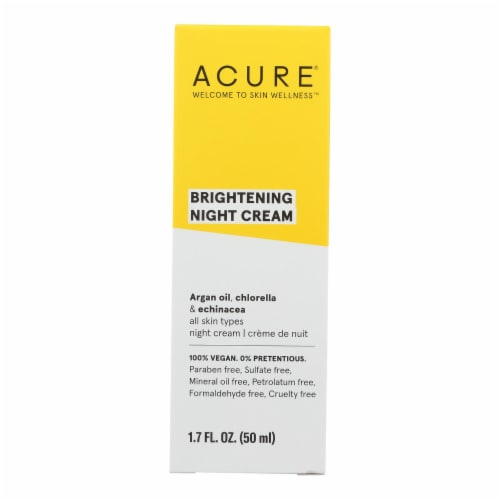 Acure - Night Cream - Argan Extract and Chlorella - 1.75 FL oz. Perspective: front