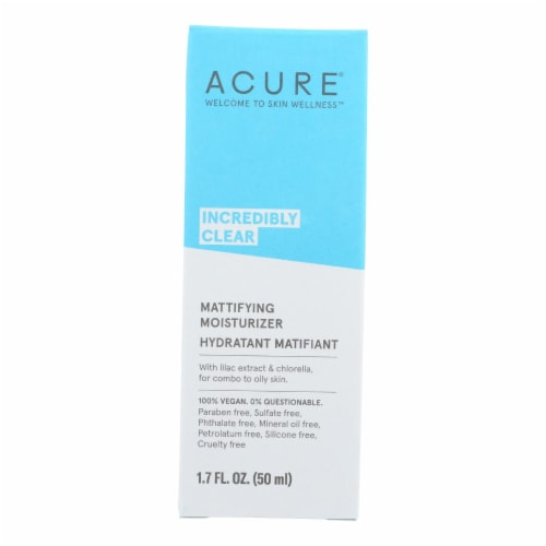 Acure - Oil Control Facial Moisturizer - Lilac Extract and Chlorella - 1.75 FL oz. Perspective: front