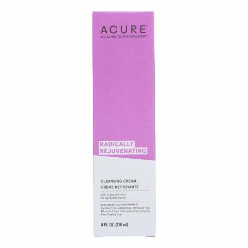 Acure - Facial Cleansing Creme - Argan Oil and Mint - 4 FL oz. Perspective: front