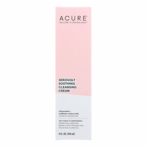 Acure - Sensitive Facial Cleanser - Peony Extract and Sunflower Amino Acids - 4 FL oz. Perspective: front