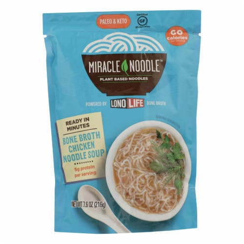 Miracle Noodle - Soup Chicken Bone Broth - Case of 6 - 7.6 OZ Perspective: front