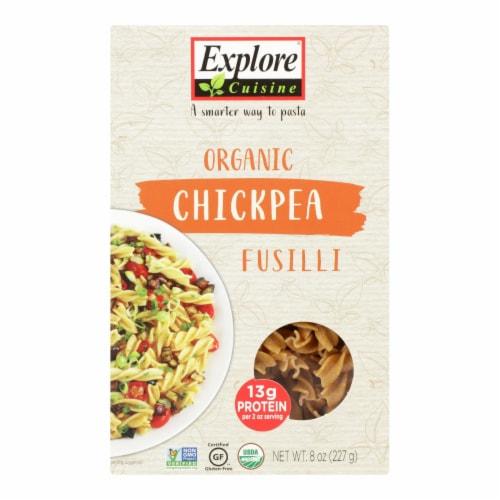 Explore Cuisine Organic Chickpea Fusilli - Chickpea Fusilli - Case of 6 - 8 oz. Perspective: front