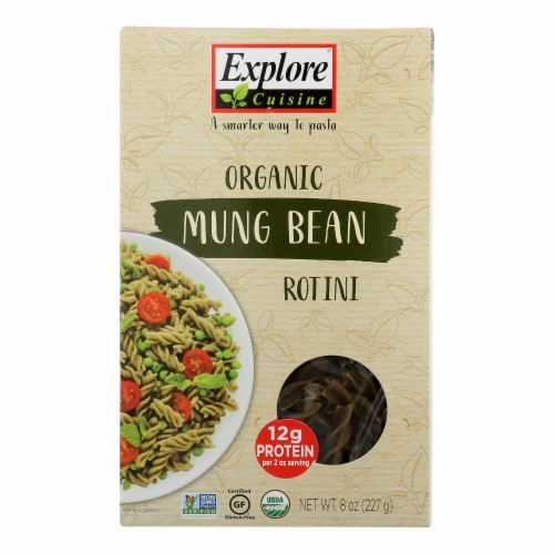 Explore Cuisine - Rotini Mung Bean - Case of 6 - 8 OZ Perspective: front