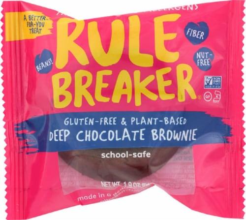 Rule Breaker Gluten Free & Plant Based Deep Chocolate Brownie 1.9oz Pk 12 Perspective: front