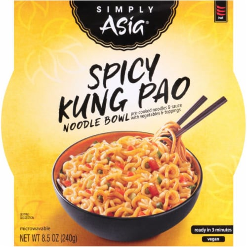 Simply Asia Spicy Kung Pao Noodle Bowl Perspective: front