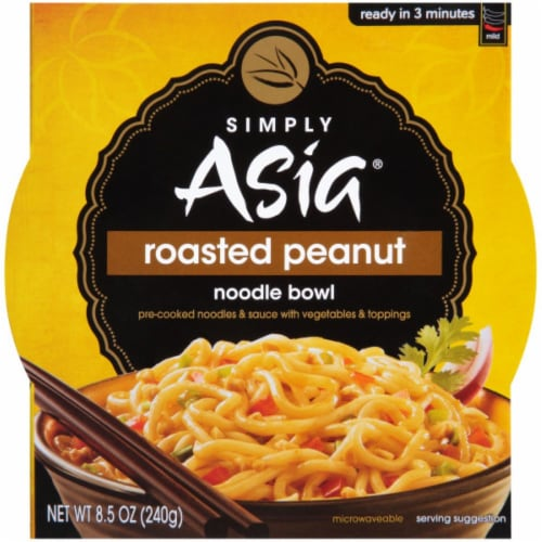 Simply Asia Roasted Peanut Noodle Bowl 6 Count Perspective: front