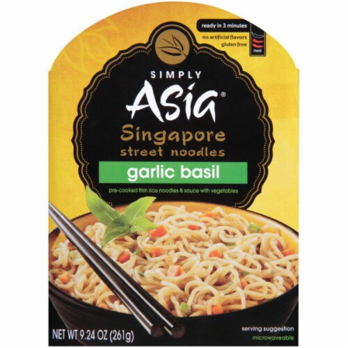 Simply Asia Garlic Basil Singapore Street Noodles Perspective: front