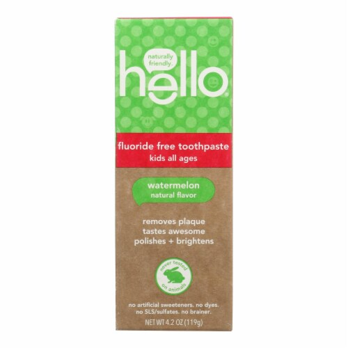 Hello Products Llc - Tp Natural Wtrmln Flride Free - Case of 4-4.2 OZ Perspective: front