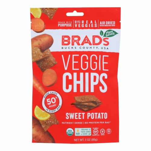 Brad's Plant Based - Chips - Organic - Sweet Potato - Case of 12 - 3 oz Perspective: front