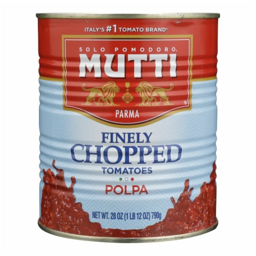 Mutti - Tomatoes Fine Chopped - Case of 6 - 28 OZ Perspective: front