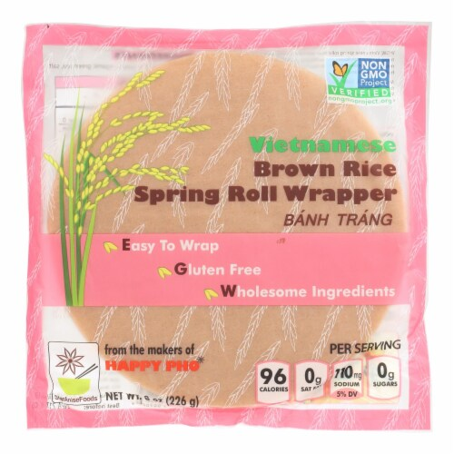 Star Anise Foods Spring Roll Wrapper - Brown Rice - Vietnamese - 8 oz - case of 6 Perspective: front