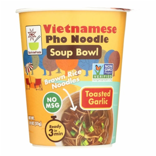 Star Anise Foods - Soup Bowl Pho Ndl Garlic - Case of 6 - 1.9 OZ Perspective: front