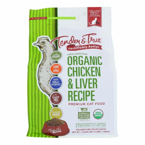 Tender & True Cat Food Chicken And Liver - Case of 6 - 3 LB Perspective: front