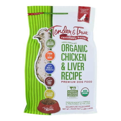 Tender & True Dog Food, Chicken And Liver - Case of 6 - 4 LB Perspective: front