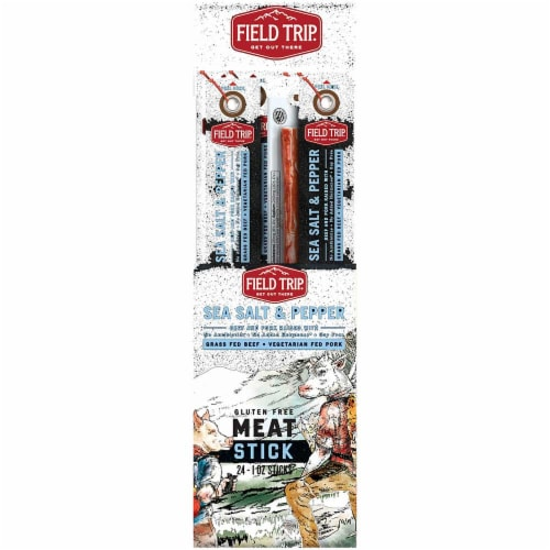 Field Trip Sea Salt and Pepper Meat Stick, 1 Ounce -- 144 per case. Perspective: front