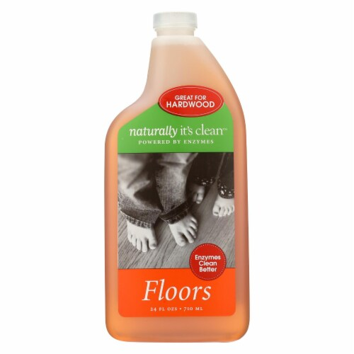 Naturally Clean Floor Cleaner Spray - Case of 6 - 24 Fl oz. Perspective: front