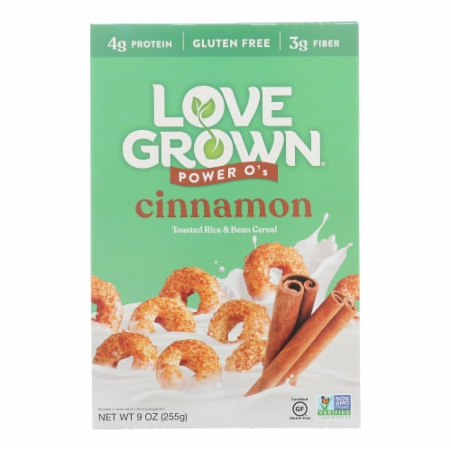 Love Grown Foods - Cereal Power Os Cinnamon - Case of 6 - 9 OZ Perspective: front