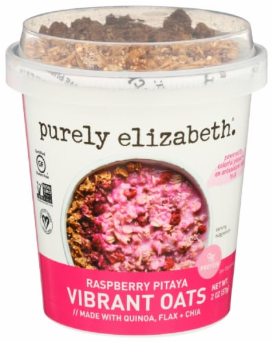 Purely Elizabeth Raspberry Pitaya Vibrant Oats Perspective: front