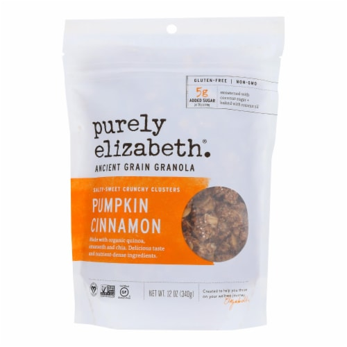 Purely Elizabeth Organic Ancient Granola Cereal and Puffs - Pumpkin Fig - Case of 6 - 12 oz. Perspective: front