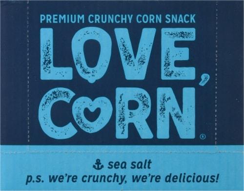 Love Corn Sea Salt Roasted Corn Snack Perspective: front