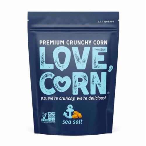 Love Corn Sea Salt Non GMO 4 oz (Pack of 12) Perspective: front
