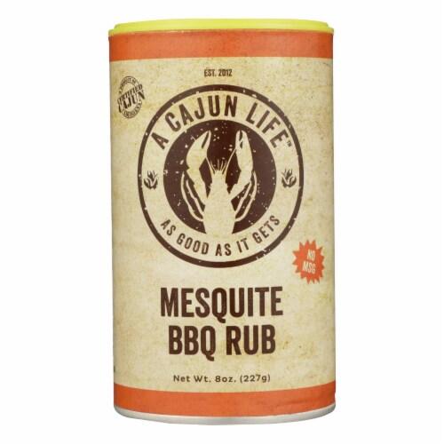 A Cajun Life Mesquite BBQ Seasoning 8 Oz - Case of 6 - 8 OZ Perspective: front