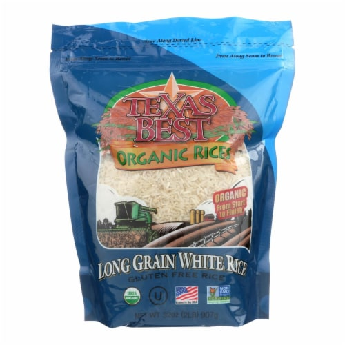 Texas Best Organics Rice - Organic - Long Grain White - 32 oz - case of 6 Perspective: front
