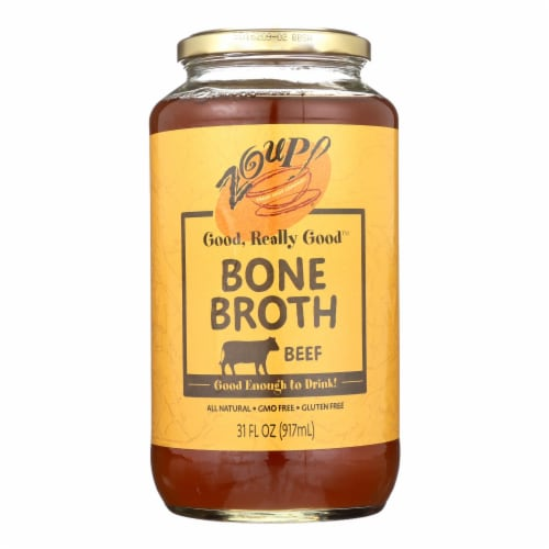 Zoup! Good Really Good - Bone Broth - Beef - Case of 6 - 31 fl oz. Perspective: front