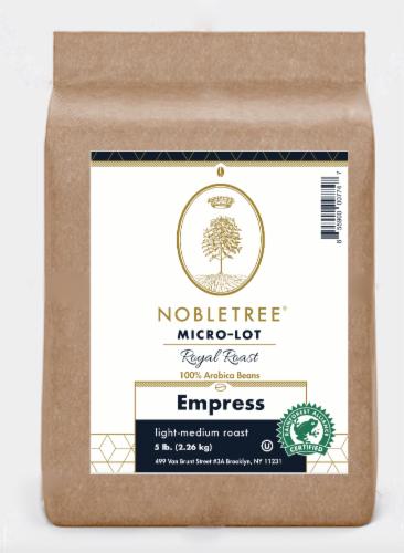 "Nobletree ""Royal Roast Empress"" Light Medium Roast Whole Bean Coffee, 5 lb Perspective: front"
