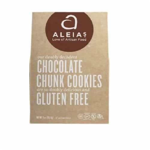 Aleia's Chocolate Chunk Cookies Gluten Free , .09 (Pack Of 6) Perspective: front