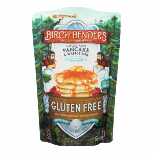 Birch Benders Pancake and Waffle Mix - Gluten Free - Case of 6 - 14 oz. Perspective: front