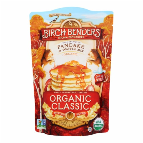 Birch Benders Pancake and Waffle Mix - Classic - Case of 6 - 16 oz. Perspective: front