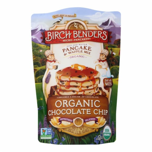 Birch Benders Pancake and Waffle Mix - Chocolate Chip - Case of 6 - 16 oz. Perspective: front